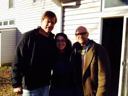 The Shelter star Michael Pare, production manager Erin Bennett and producer Donny Broussard on our last day of shooting.