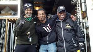Some of The Shelter crew! Great men Charles Watts, Larry Janvier Williams and Alvin Henry!