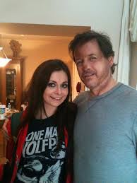 Actress and Amy Wickenheiser and star Michael Pare on set!
